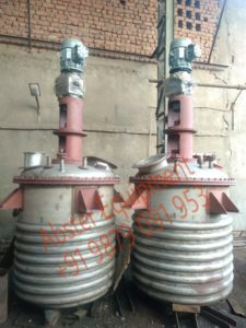 Stainless Steel Jacketed Resin Reactors