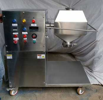 Lab scale double cone blender, lab scale octagonal blender